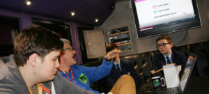 Year 9s receive careers guidance on the 'Hits Radio Bus'