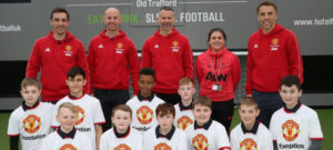 Treble Reunion: Class of '92 surprise aspiring young footballers ahead of Old Trafford comeback