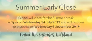 End of Term Arrangements, Summer 2019