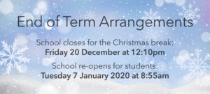 End of Term Arrangements-Christmas 2019