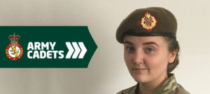 Year 10 student completes her exams to become an Army Cadet