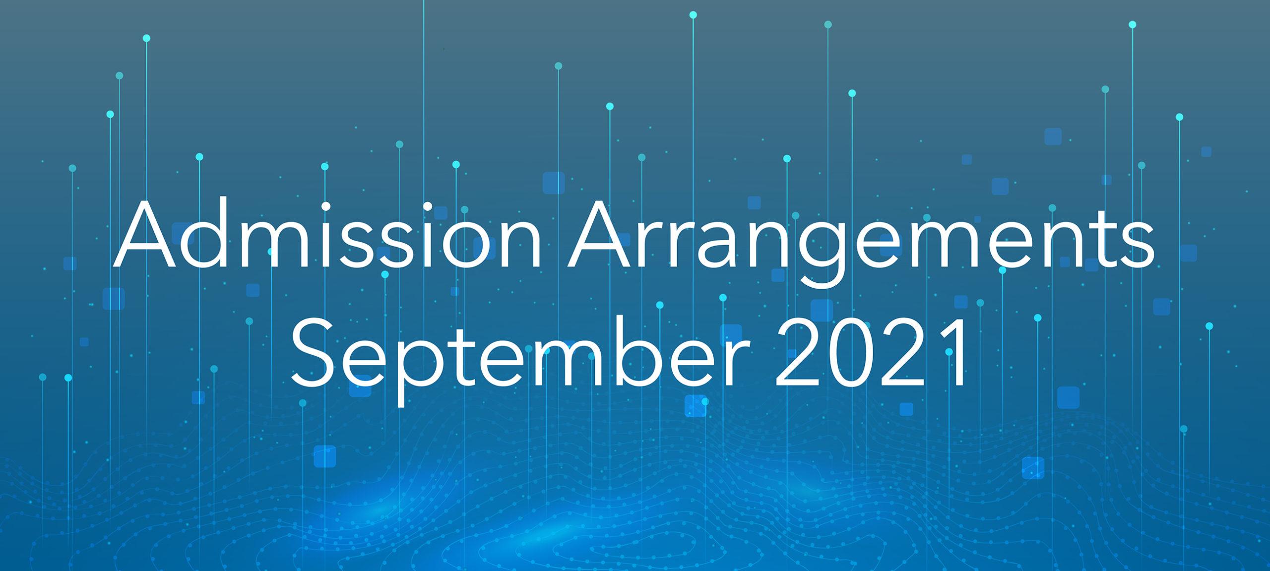 Admission Arrangements, September 2021