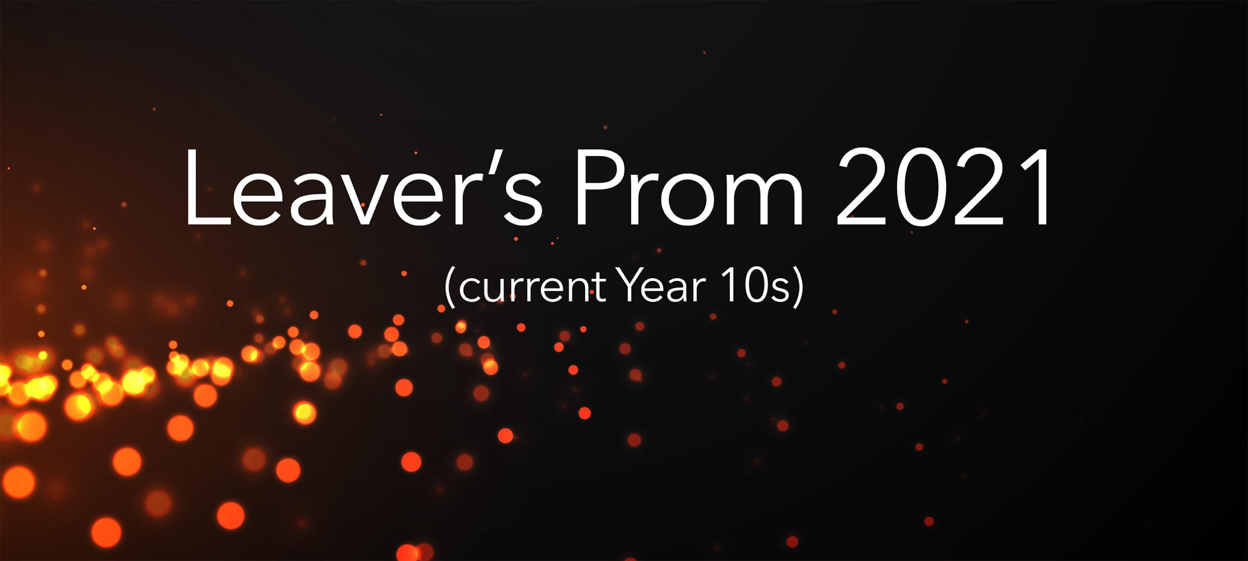 Leaver's Prom 2021