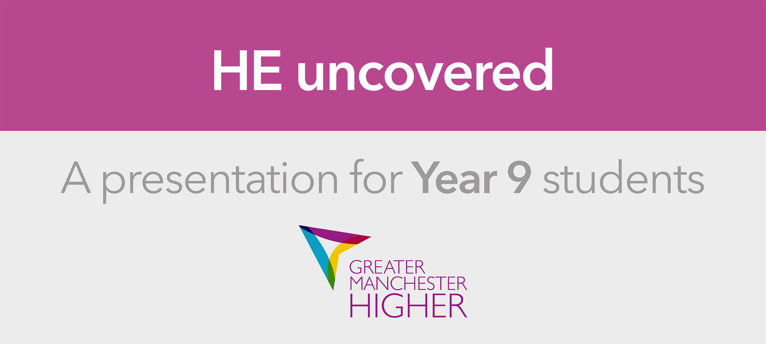 HE Uncovered – A presentation for Year 9 students