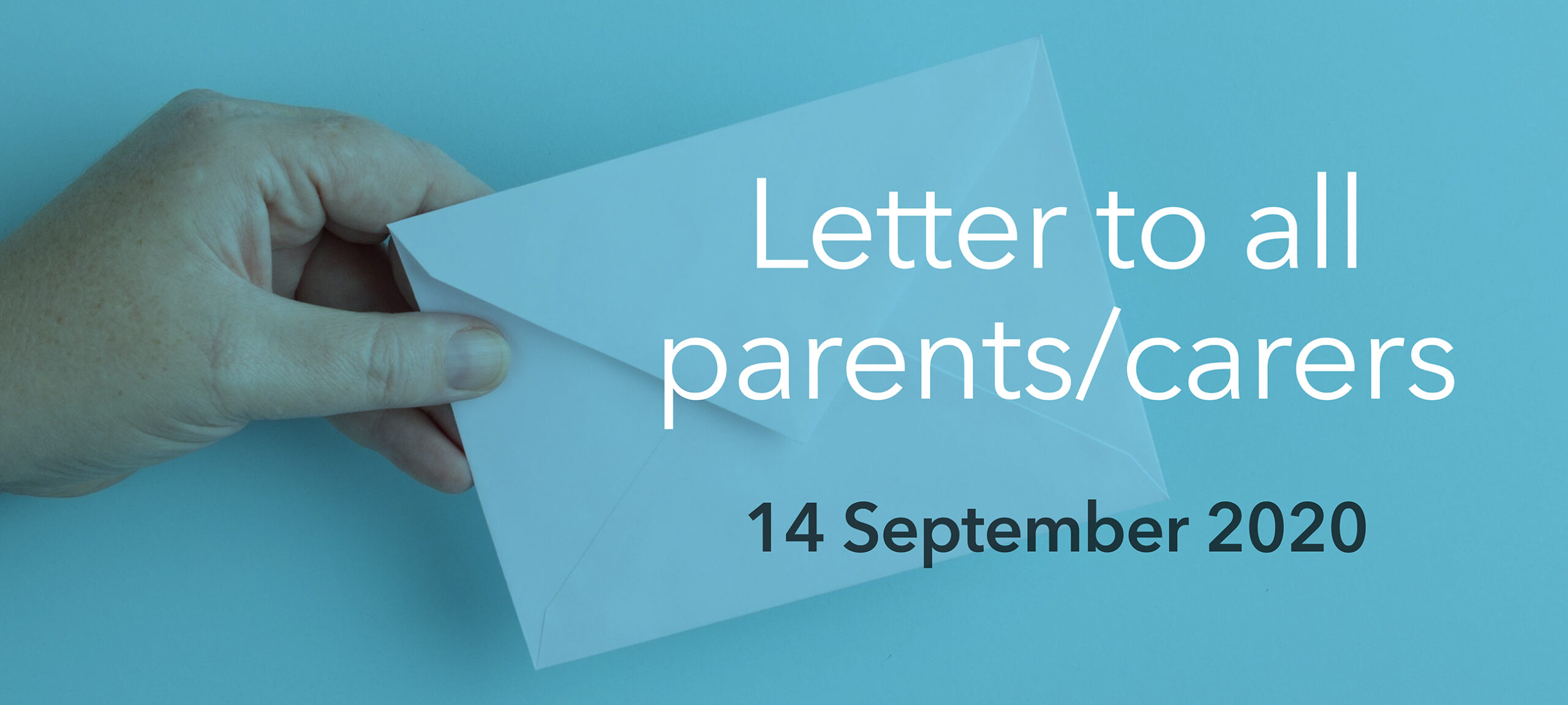 Letter to all parents, 14 September 2020