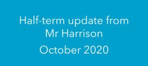 Half-term update from Mr Harrison