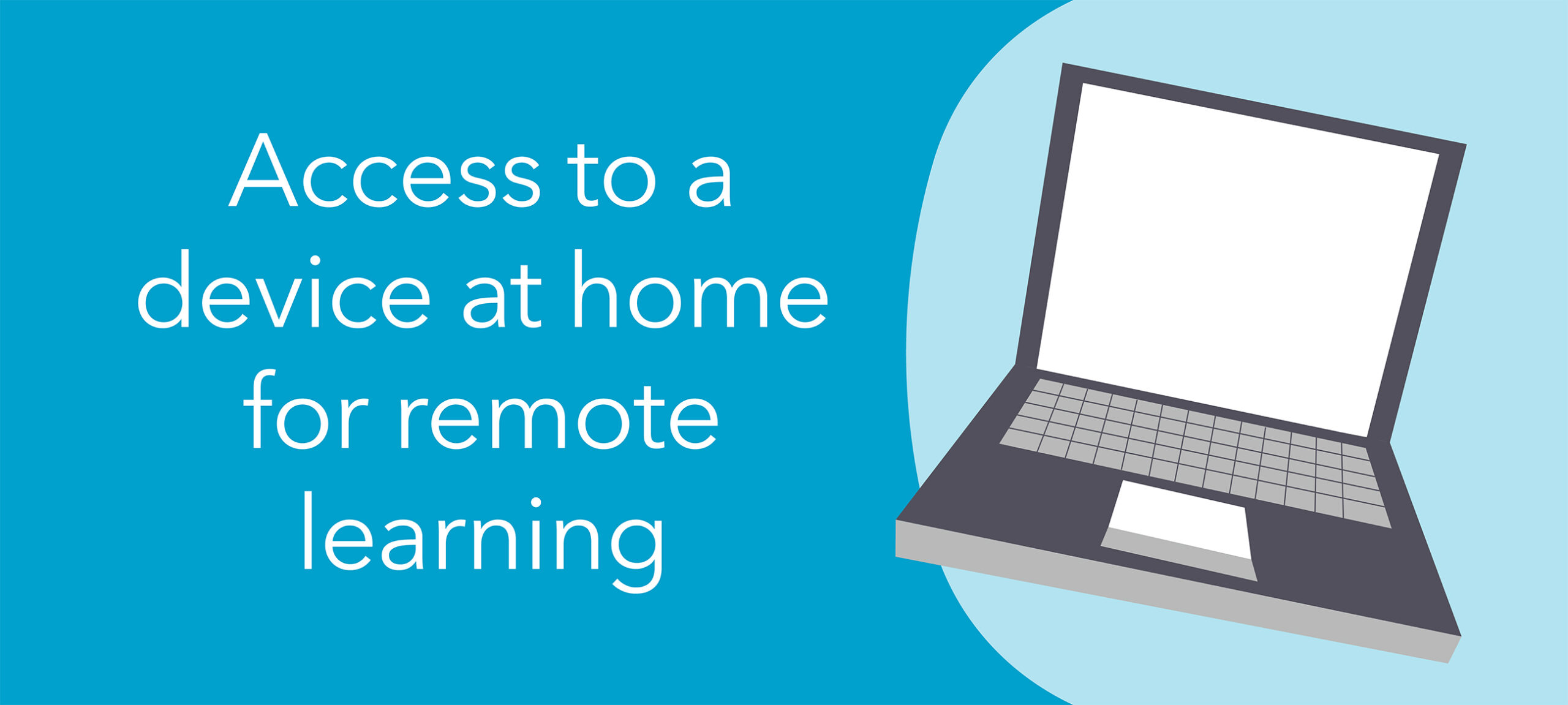 Access to a device at home for remote learning