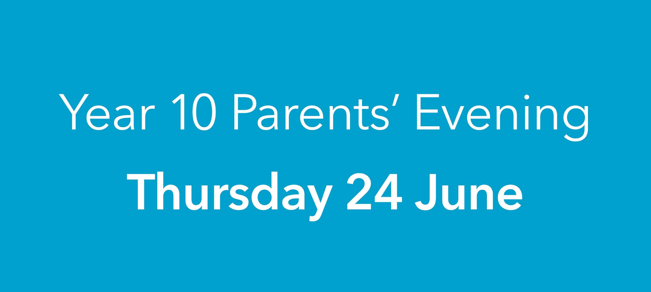 Year 10 Parents' Evening